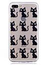 애플 아이폰 7 7 플러스 케이스 커버에 대 한 케이스 고양이 패턴 높은 침투 tpu 소재를 그렸습니다. iphone 6s 6 plus