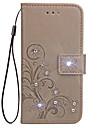Coque Pour Samsung Galaxy Portefeuille / Porte Carte / Avec Support Coque Integrale Couleur Pleine Dur faux cuir pour S6 edge / S6 / S5