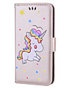 Case For Huawei P9 Lite Huawei Huawei P8 Lite Card Holder with Stand Flip Pattern Full Body Cases Unicorn Hard PU Leather for P10 Lite