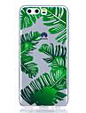Caso para huawei p8 lite (2017) p10 estojo capa banana folhas padrao alto transparente tpu material caso anti-scratch telefone para huawei