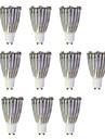 10pcs 6W 480lm GU10 LED Spotlight MR16 1 LED Beads COB Warm White / White 220-240V / 10 pcs