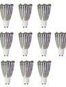 10pcs 6W 480lm GU10 Lampadas de Foco de LED MR16 1 Contas LED COB Branco Quente / Branco 220-240V / 10 pcs