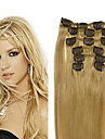 Straight Clip In Human Hair Extensions 7Pcs/Pack 70g/pack #12 #24 #30 Blonde Burgundy 18 inch 20 inch 22 inch