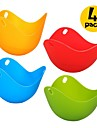 4 Pcs Eggcellent Poacher Colorful Non-stick Silicone Egg Cookware Pod Cup