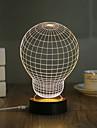 1 Set, Popular Home Acrylic 3D Night Light LED Table Lamp USB Mood Lamp Gifts, Bulb