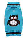 Dog Coat Sweater Dog Clothes Party Casual/Daily Holiday Cosplay Fashion Wedding Halloween Christmas New Year\'s Animal Blue Green Ruby