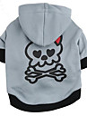 Cat Dog Hoodie Gray Dog Clothes Winter Spring/Fall Skulls Fashion