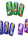 24pcs Christmas Nail Art Stickers Decals Snowflakes Snowman