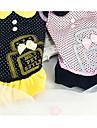Собака Платья Одежда для собак Хлопок Пух Зима Весна/осень На каждый день Принцесса Черный Розовый Для домашних животных