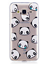 Capinha Para Samsung Galaxy J7 Prime J5 Prime IMD Transparente Estampada Capa Traseira Panda Macia TPU para J7 (2016) J7 Prime J5 (2016)