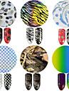 1 Adesivos para Manicure Artistica Purpurina Arte Deco/Retro Efeito 3D Artigos DIY maquiagem Cosmeticos Designs para Manicure