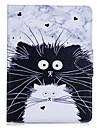 Capa de capa para ipad pro 10.5 ipad (2017) carteira de suporte de cartao com suporte flip caso de corpo inteiro gato duro pu couro para