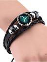 Муж. Жен. Кожаные браслеты Винтаж Кожа Геометрической формы Бижутерия Подарок Бижутерия