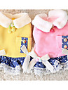 Dog Dress Dog Clothes Casual/Daily Bowknot Yellow Blushing Pink