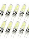 10 Stueck 2 W 150 lm G4 LED Doppel-Pin Leuchten T 2 LED-Perlen COB Dekorativ Warmes Weiss / Kuehles Weiss 12 V / RoHs