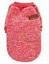 Chat Chien Manteaux Tee-shirt Sweatshirt Vetements pour Chien Soiree Decontracte / Quotidien Garder au chaud Sportif Uni Cafe Rouge Vert