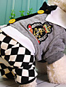 Dog Jumpsuit Dog Clothes Plaid/Check Gray Cotton Costume For Pets Casual/Daily