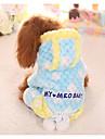 Собака Комбинезоны Одежда для собак Хлопок Зима Весна/осень На каждый день геометрический Желтый Синий Розовый Для домашних животных