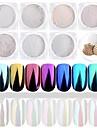 1set 7pcs Akrylpulver / Pudder / Glitter Powder Elegant & Luksuriøs / Mirror Effect / Glitrende Nail Art Design