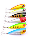 """6 pcs Fishing Lures Popper g / Ounce, 60 mm / 2-3/8"""" inch, Plastic ABS Sea Fishing Fly Fishing Bait Casting Spinning Jigging Fishing"""