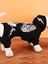 Hund Kostume Frakker Sweatshirt Hundetøj Fest Cosplay Halloween Jul Dødningehoveder Sort Rød Kostume For kæledyr