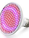 E26/E27 Luz de LED para Estufas 200 SMD 3528 800-850 lm Vermelho Azul K V