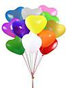 파티 풍선 하트 풍선 12 인치 라텍스 풍선 아이들을위한 100 팩 파티 용품 결혼 선물 아기 샤워 또는 생일 훈장 - 멀티 코