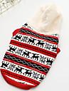 Hond Gilet Hondenkleding Warm Casual/Dagelijks Geometrisch Geel Rood Kostuum Voor huisdieren