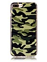 Capinha Para Apple iPhone X iPhone 8 Estampada Capa traseira Cor Camuflagem Macia TPU para iPhone X iPhone 8 Plus iPhone 8 iPhone 7 Plus