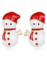 Жен. Детские Серьги-гвоздики Мода Chrismas Стразы Сплав Бижутерия Назначение Рождество Новый год