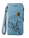 Etui Til Apple iPhone X / iPhone 8 / iPhone 8 Plus Kortholder / Flipp / Inngravert Heldekkende etui Blomsternaal i krystall Hard PU Leather til iPhone X / iPhone 8 Plus / iPhone 8