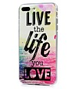 For iPhone X iPhone 8 Case Cover Ultra-thin Pattern Back Cover Case Word / Phrase Soft TPU for Apple iPhone X iPhone 8 Plus iPhone 8