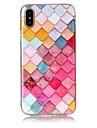 Para iPhone X iPhone 8 Case Tampa Ultra-Fina Estampada Capa Traseira Capinha Estampa Geometrica Macia PUT para Apple iPhone X iPhone 8