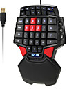 Delux T9 47-Key Professional Single Hand Wired Esport Gaming Keyboard 3-levelBacklit