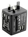 универсальный адаптер для путешествий 2.1a 2 зарядных порта USB по всему миру в одном универсальном зарядном устройстве