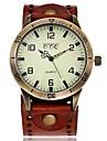 Men\'s Women\'s Wrist Watch Quartz Leather Black / White / Blue Casual Watch Analog Vintage Casual Elegant Unique Creative - Red Green Blue