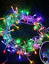 BRELONG 10M 100 LED Christmas Halloween Decorative Light Festival Decorative Light - RGB / Warm White / White (110V / 220V) Without Battery