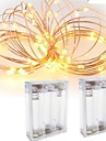 2PCS 3M 30Led 3AAA 4.5V Battery Powered Waterproof Decoration LED Copper Wire  Lights String  for Festival Wedding Party
