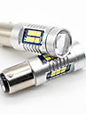 2X 1157 BAY15D 3030 LED 21SMD White BA15S P21W Tail Brake Turn Signal Ligts 15W