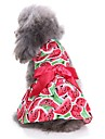 Cat Dog Coat Tuxedo Dress Dog Clothes Party Casual/Daily Wedding Christmas New Year\'s Fruit Red