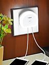 лампа дневного света brelong с двойной штепсельной вилкой (5v)&датчик света переключатель eu / us 110-240v белый