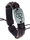 Homme Femme Bracelets en cuir Cuir Forme Geometrique Bijoux Pour Soiree Quotidien