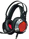 AJAZZ AX361 유선 헤드폰 동적 스테인레스 / 플라스틱 게임 이어폰 볼륨 컨트롤 / 마이크 포함 / 듀얼 드라이버 헤드폰