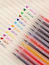 12 στυλό / σετ 12-χρωμάτων στυλό τζελ με θερμόμετρο