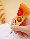 1 pc simulacao pizza magetic black ink ballpoint pen