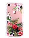 Coque Pour Apple iPhone X iPhone 8 iPhone 8 Plus Ultrafine Transparente Motif Coque Fleur Flexible TPU pour iPhone X iPhone 8 Plus iPhone