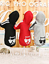 Cat Dog Hoodie Dog Clothes Casual/Daily Animal Black Gray Red Costume For Pets