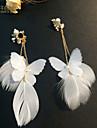 Women\'s Tassel Clip Earrings - Tassel Classic White Earrings For Wedding Party