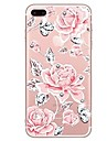Case For iPhone X iPhone 8 Rhinestone Transparent Pattern Back Cover Flower Soft TPU for iPhone X iPhone 8 Plus iPhone 8 iPhone 7 Plus