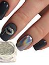 1pcs Гель для ногтей Порошок блеска порошок Лазерная голографическая Блеск и сияние Дизайн ногтей
